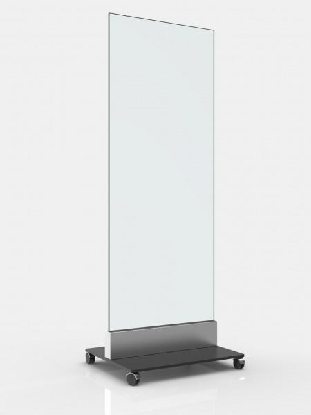 Ganzglasschutzwand mobil