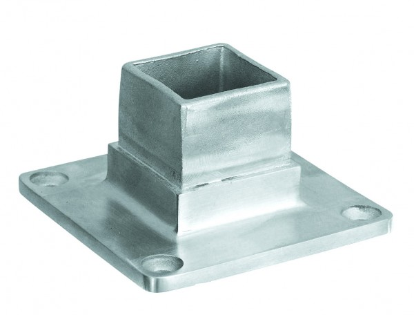 Rohrverbinder vierkant - Bodenflansch