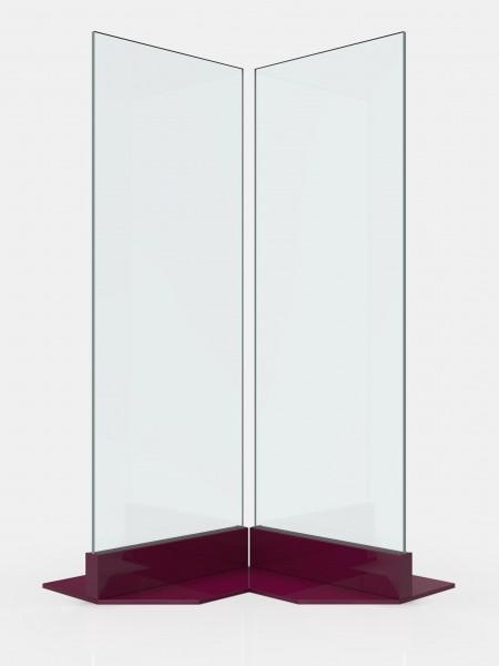 Ganzglasschutzwand Eckvariante